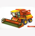 combine harvester 3d realistic icon vector image