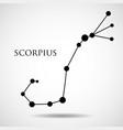 constellation scorpius zodiac sign vector image vector image