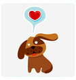 cute cartoon dog is thinking to love vector image vector image