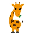 Cute giraffe cartoon icon vector image