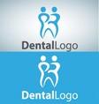 dental logo 15 vector image vector image