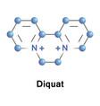 Diquat is a contact herbicide vector image