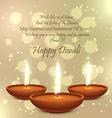 diwali festival diya lamp vector image