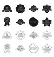 emblem and badge icon set vector image vector image