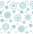 floral seamless pattern with flat line icons vector image vector image