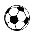 football ball object icon vector image vector image