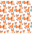 fox character doing different activities funny vector image vector image