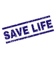grunge textured save life stamp seal vector image vector image