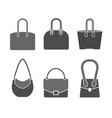 handbag icons set vector image