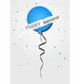 Happy birthday balloon from torn paper