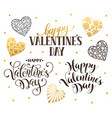 happy valentine day phrases vector image vector image