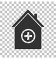Hospital sign Dark gray icon on vector image vector image