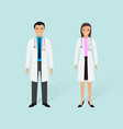 hospital staff concept couple of male and female vector image vector image