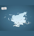 isometric 3d asia map concept vector image