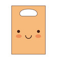 kawaii paper bag with handle in colorful vector image vector image