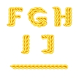 knitted alphabet F J vector image vector image