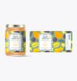 label packaging jar marmalade pattern exotic fruit vector image