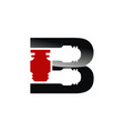 letter b industry logo design template vector image