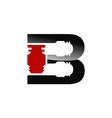 letter b industry logo design template vector image