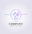 letter logo template for your business and company vector image vector image
