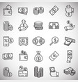 money line icons set on white background for vector image