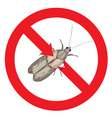 Moth pest is prohibited vector image vector image