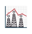 oil industry plant isolated icon vector image vector image