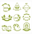 Organic products eco labels logo vector image vector image