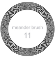 pattern line ancient meander vector image