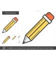 Pencil tool line icon vector image vector image