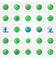 radar colorful icons set vector image
