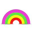 rainbow icon on white background vector image vector image