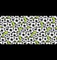 random soccer balls pattern vector image