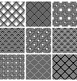 Rhombuses black and white geometric seamless vector image vector image