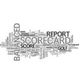 scorecard word cloud concept vector image vector image