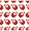 seamless christmass pattern santa claus vector image vector image