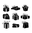 set gift boxes icons vector image