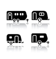 Set of transport icons - trailers vector image vector image