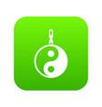 sign yin yang icon digital green vector image