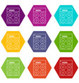 speaker box icons set 9 vector image vector image