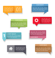 Speech Bubbles with Text vector image vector image
