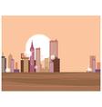 Sunset Metropolis vector image