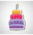 sweet cakes design vector image vector image