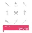 Sword icon set vector image vector image