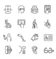 technology for disabled set monochrome line icon