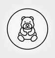 teddy bear universal icon editable thin vector image vector image