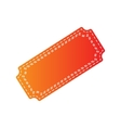 Ticket sign Orange applique isolated vector image vector image