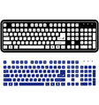 two different keyboard vector image vector image