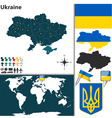 Ukraine map vector image vector image
