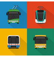 urban public transport set vector image